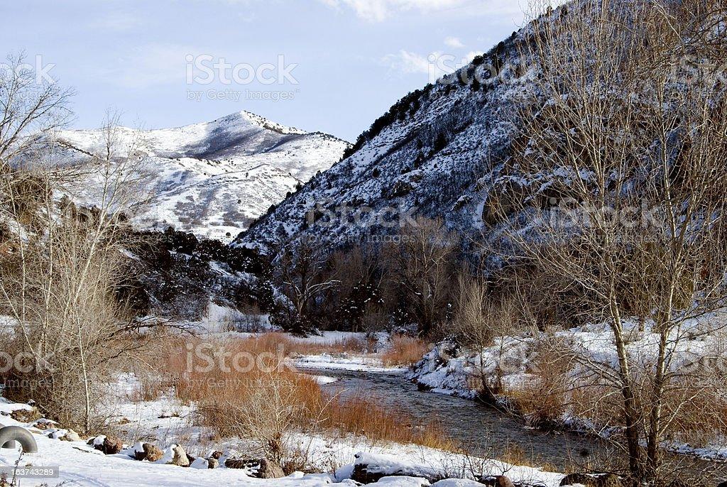 Winter landscape in Utah royalty-free stock photo