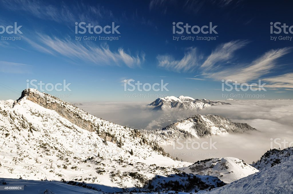 Winter landscape near Garmisch - Germany stock photo