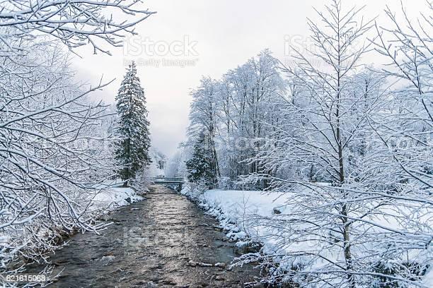 Photo of Winter landscape near small river