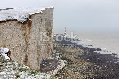 Winter Landscape of Beachy head, Eastbourne, UK