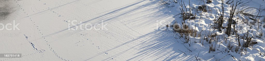 XXL Winter landscape panorama from above stock photo