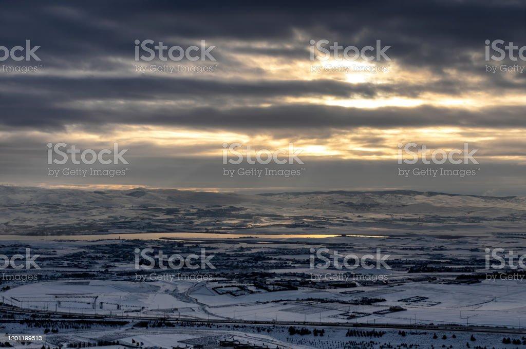 Winter Landscape - Royalty-free Ankara - Turkey Stock Photo