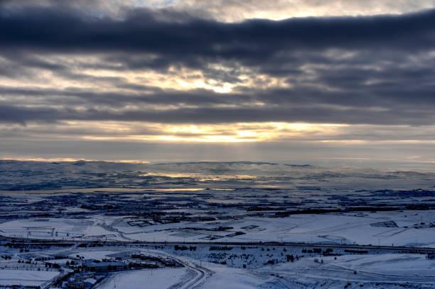 Kış Manzara stok fotoğrafı