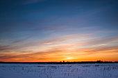 Winter landscape. Composition of nature
