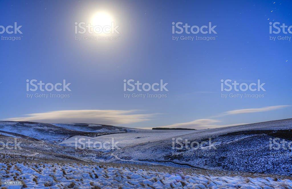 Winter Landscape royaltyfri bildbanksbilder