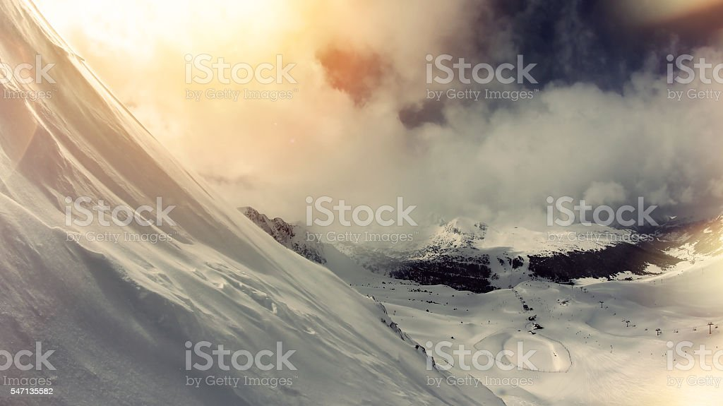 Winter landscape stock photo