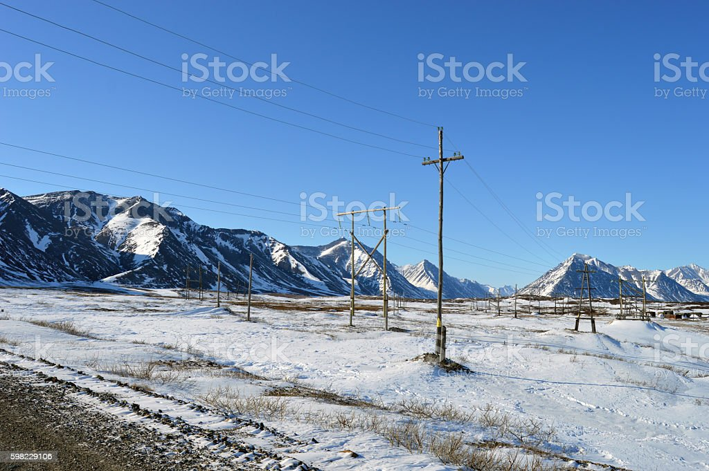 Paisagem de inverno  foto royalty-free