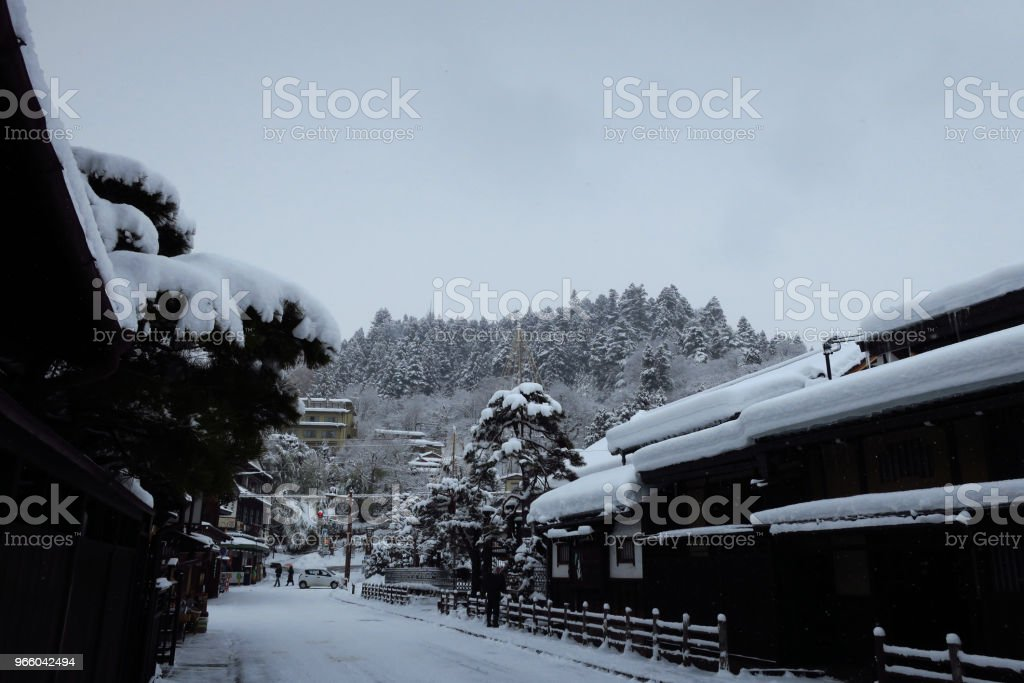 winter-Landschaft  - Lizenzfrei Berg Stock-Foto