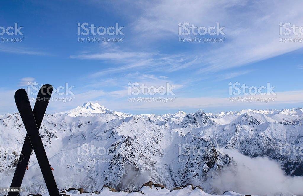 Winter Landscape , San Carlos de Bariloche, Argentina. stock photo