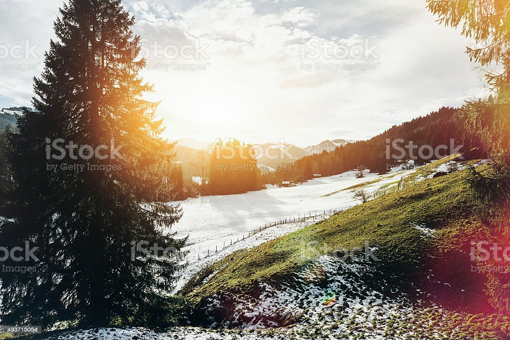 Winter Landscape Scenic stock photo