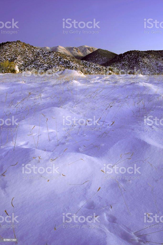 winter landscape snow stock photo