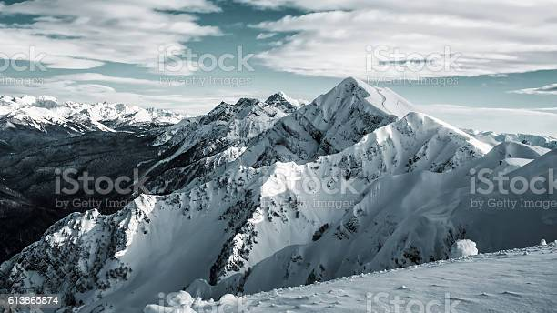Photo of Winter landscape, top of mountains