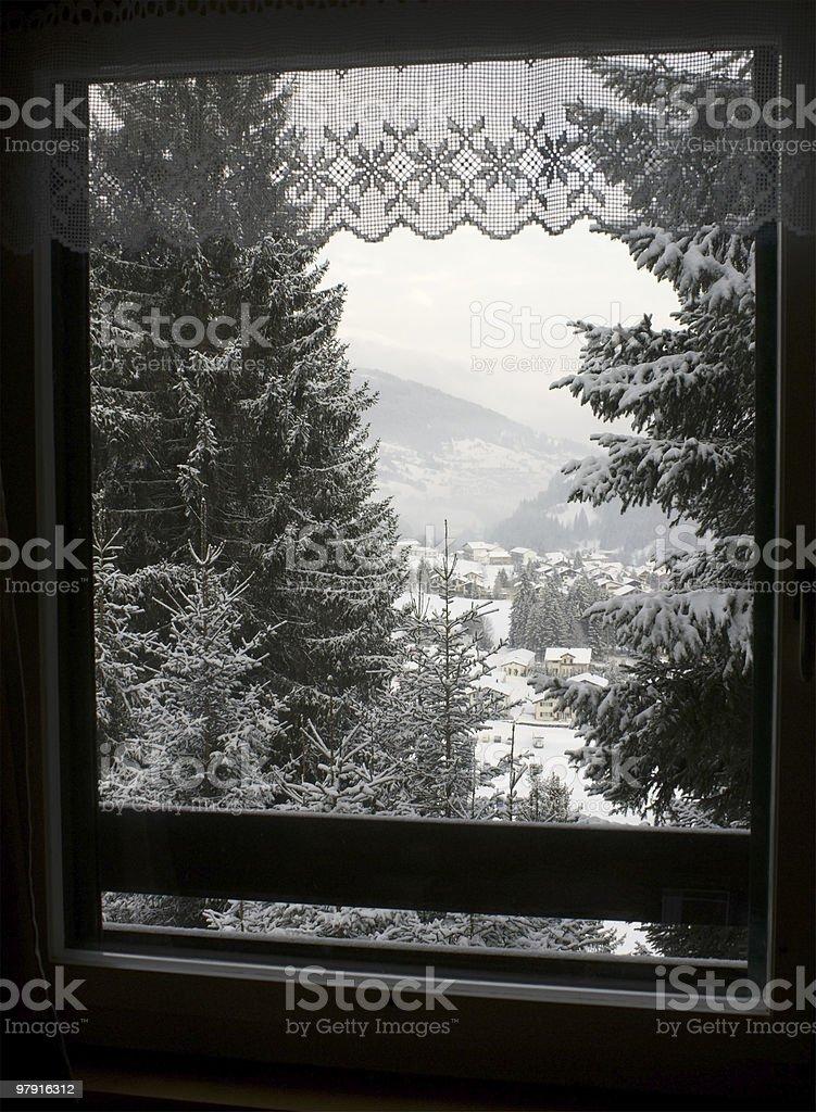 Winter Landscape Window royalty-free stock photo