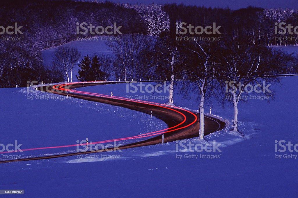 winter-Landschaft mit leichten trace – Foto