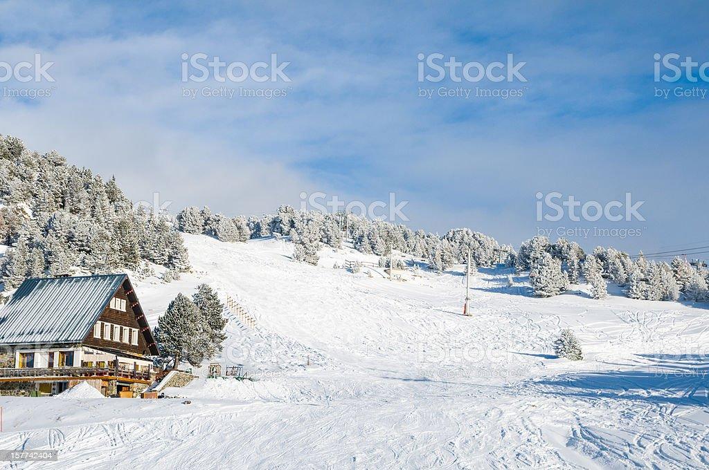 Winter Landscape with Skilift foto