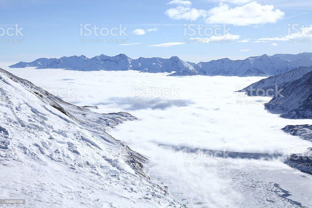 winter-Landschaft mit vue, Italien col du Mount Cenis – Foto