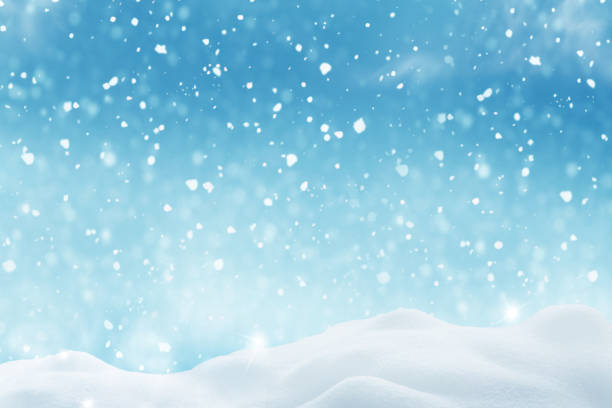 冬の風景。メリー クリスマスと幸せな新年グリーティング カード コピー スペース。 - 雪景色 ストックフォトと画像