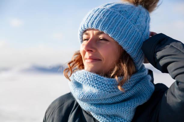 Kış yaşam tarzı portre stok fotoğrafı