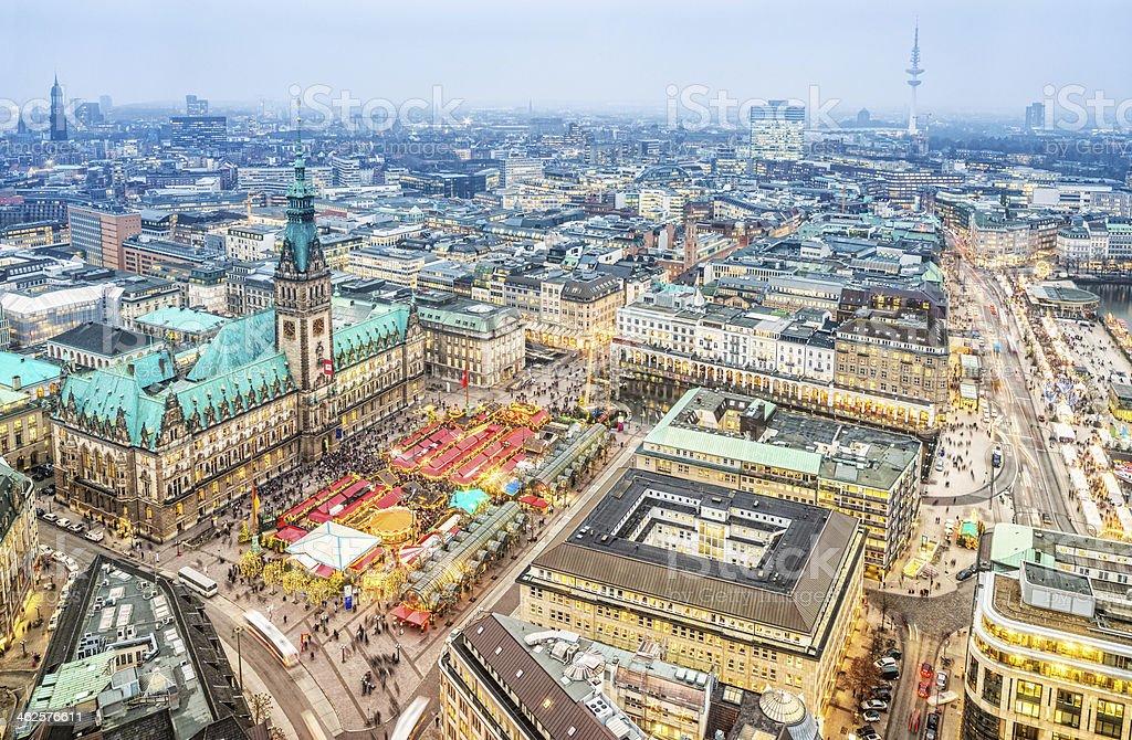 Winter Lichter der Stadt-Hamburg, Deutschland – Foto