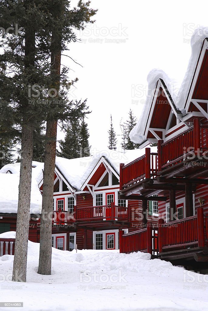 Winter lodge royalty-free stock photo
