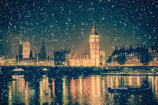 Winter London Scene stock photo
