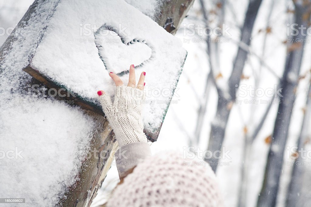 Winter love royalty-free stock photo