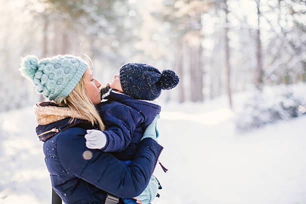 Winter love stock photo