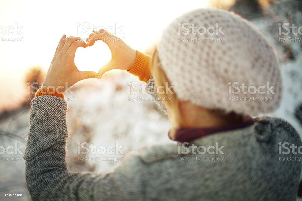 Winter loving royalty-free stock photo