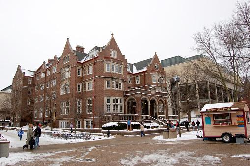 Winter Madison University Of Wisconsin Stock Photo - Download Image Now