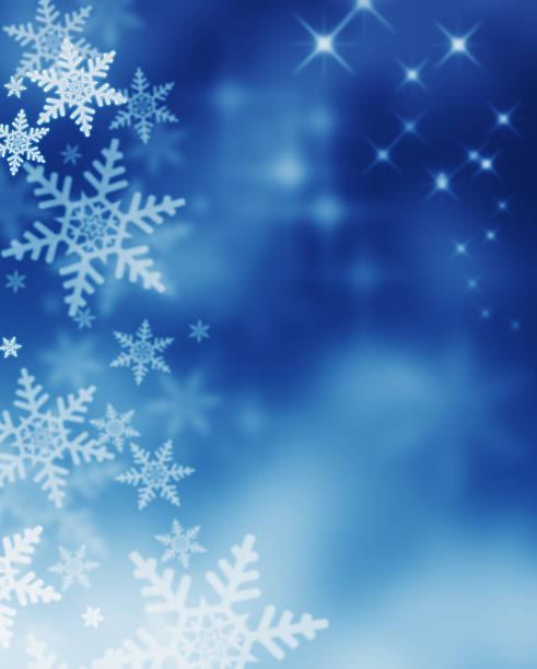 winter magic night - snowflake background stock pictures, royalty-free photos & images