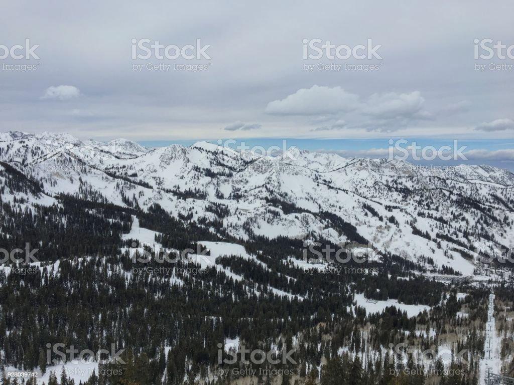 winter majestic views around wasatch front rocky mountains brighton