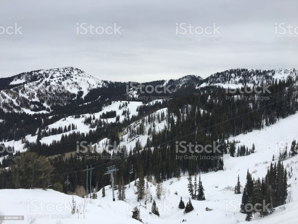 winter majestic views around wasatch front rocky mountains brighton