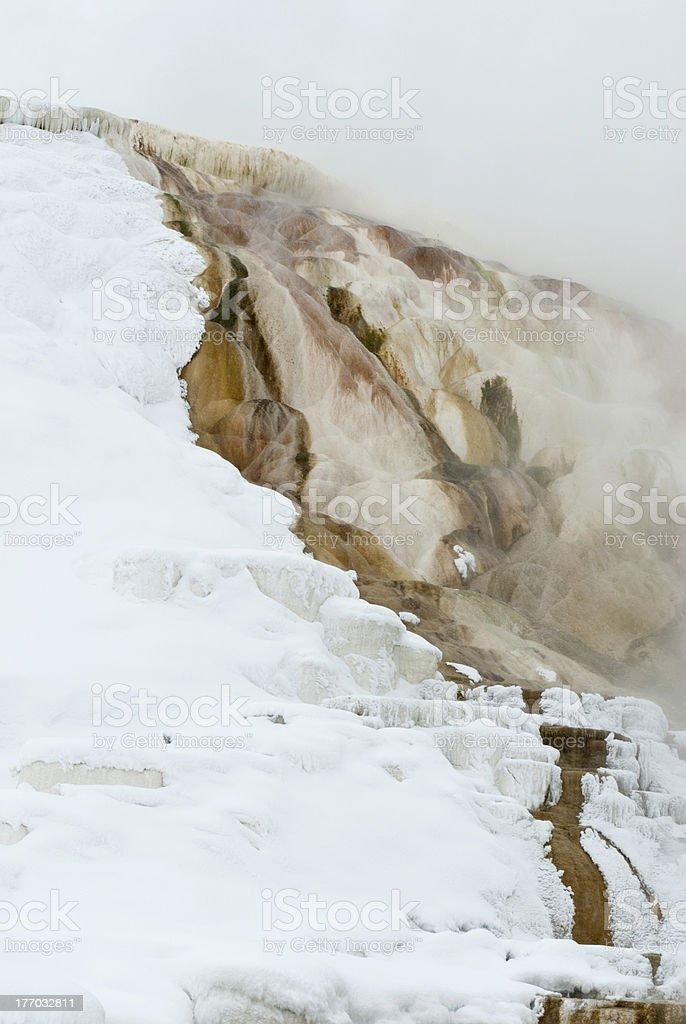 Winter, Mammoth Hot Springs, Yellowstone NP stock photo