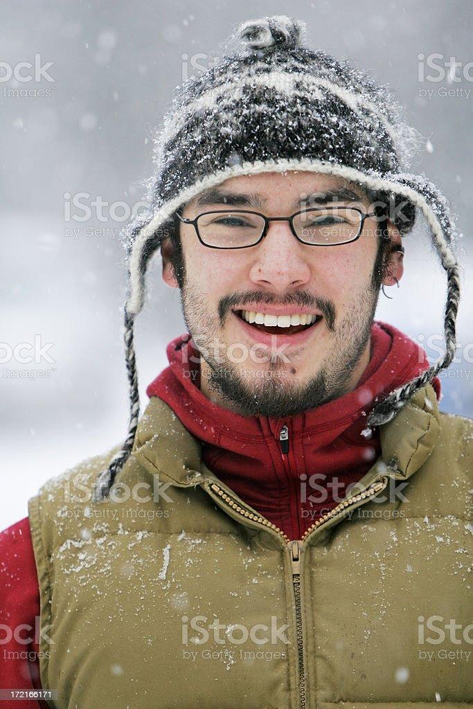 Winter Man stock photo