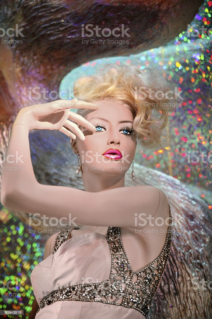 Winter mannequin royalty-free stock photo