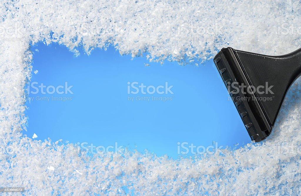 winter message stock photo
