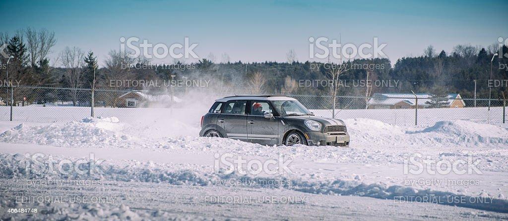 Winter Mini Cooper Event stock photo