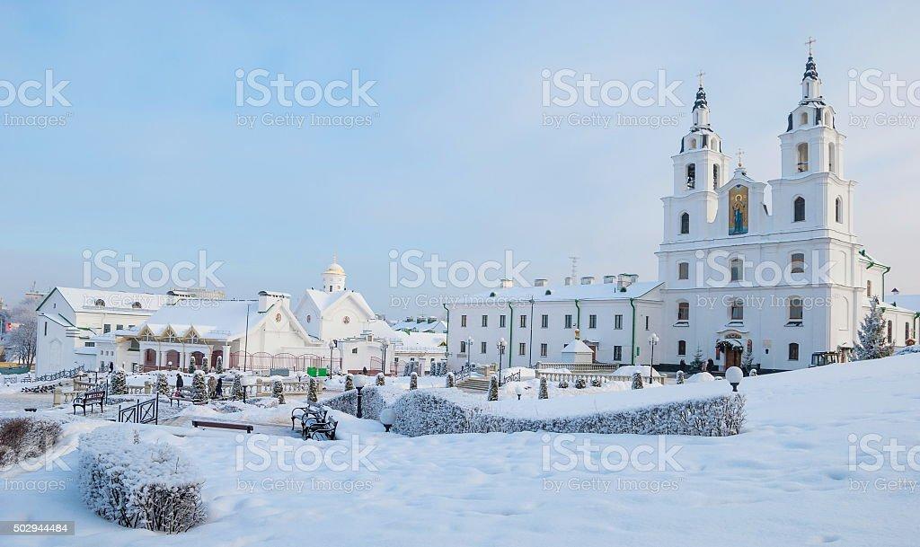 Winter Minsk stock photo