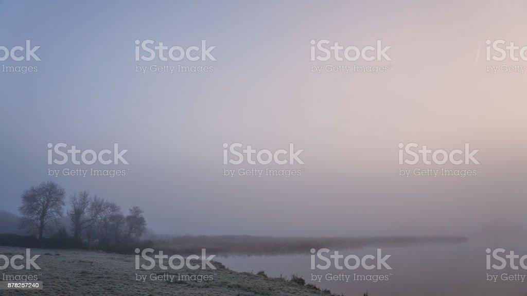 Winter morning in Ireland stock photo