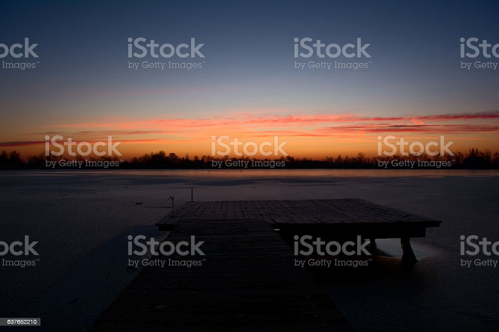 Winter morning stock photo