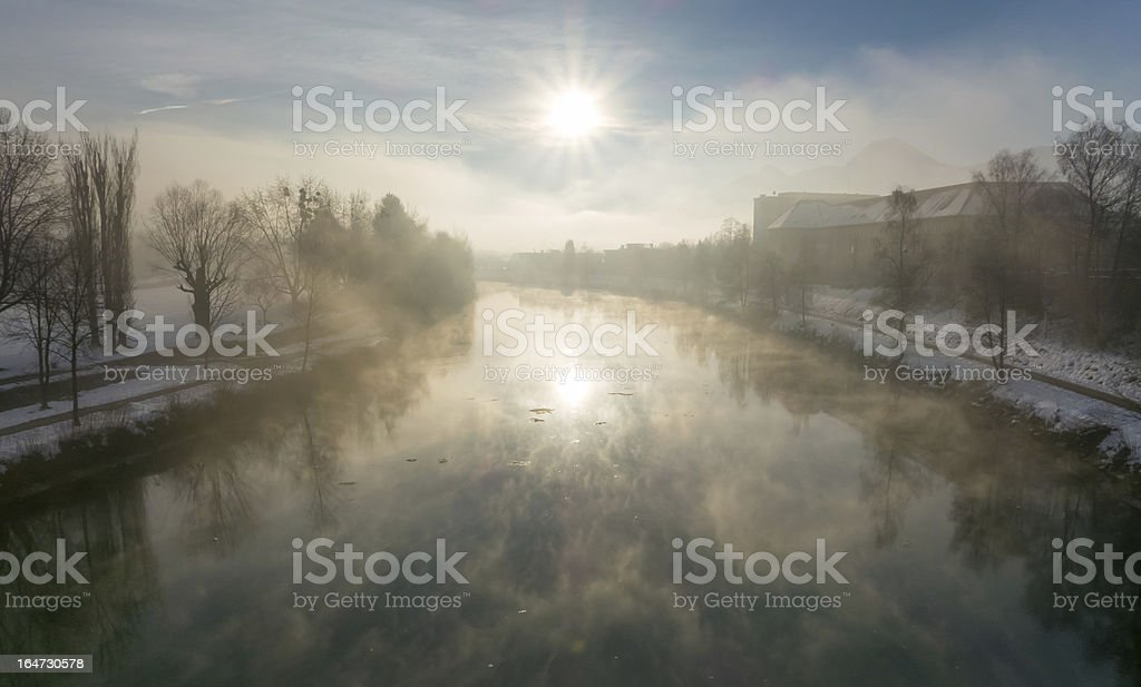 Winter morning view royalty-free stock photo