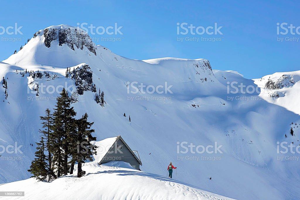 winter mountain adventure royalty-free stock photo
