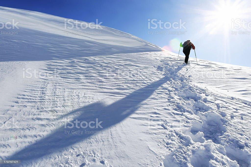 XL winter mountain climbing royalty-free stock photo