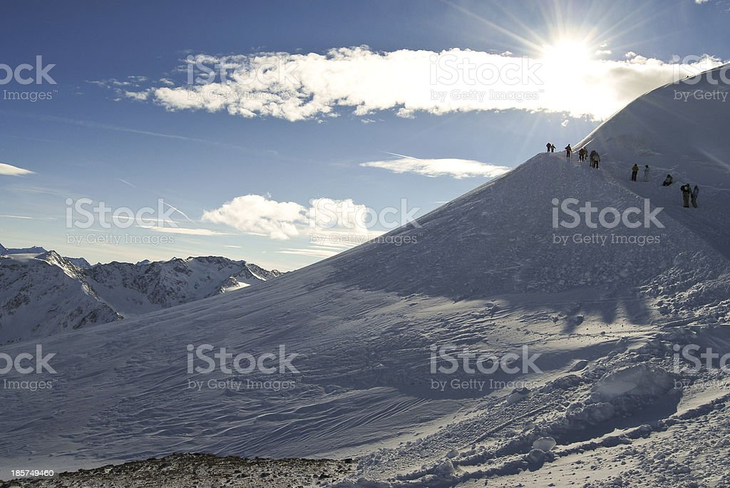 Winter mountain in Austria royalty-free stock photo