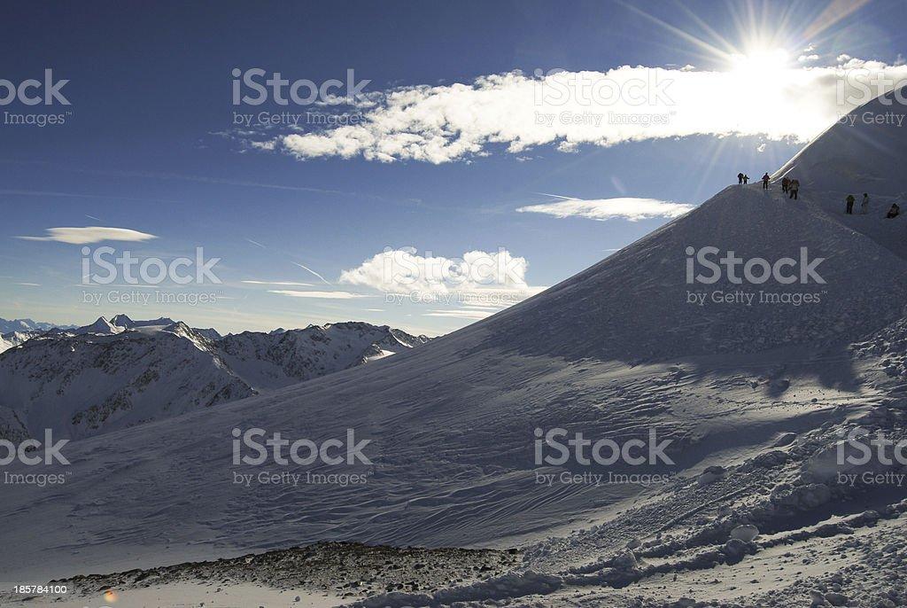 Winter mountain in Austria stock photo