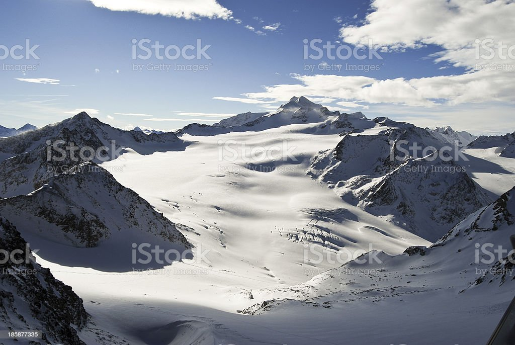 Winter mountain in Austria stock photo