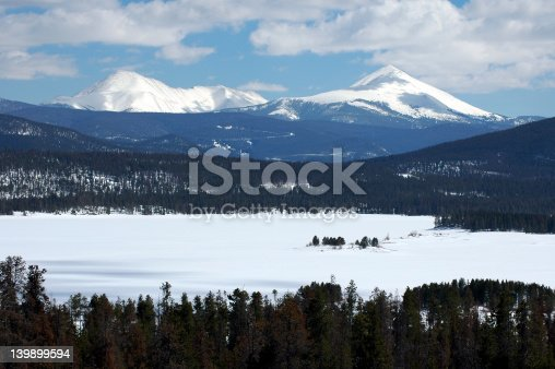 snow covered lake dillon colorado