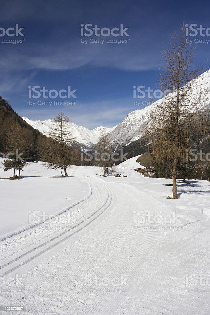 Winter Mountain Landscape royalty-free stock photo