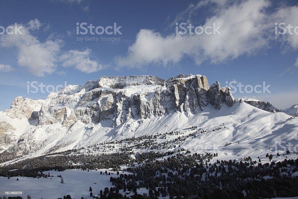 Winter Mountain Peaks in the Dolomites royalty-free stock photo