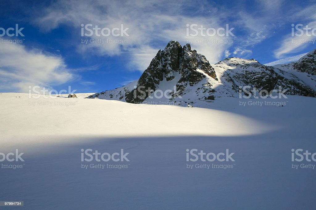 winter mountain royalty free stockfoto